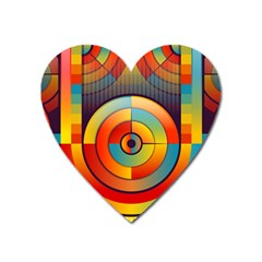 Abstract Pattern Background Heart Magnet by Nexatart