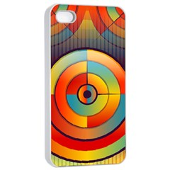 Abstract Pattern Background Apple Iphone 4/4s Seamless Case (white) by Nexatart