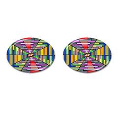 Art Vanishing Point Vortex 3d Cufflinks (oval) by Nexatart