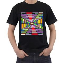 Art Vanishing Point Vortex 3d Men s T Shirt (black)