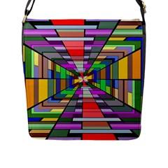 Art Vanishing Point Vortex 3d Flap Messenger Bag (l)  by Nexatart