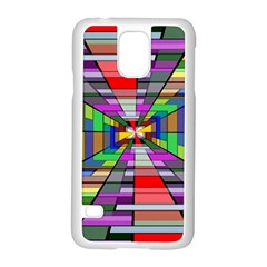 Art Vanishing Point Vortex 3d Samsung Galaxy S5 Case (white)