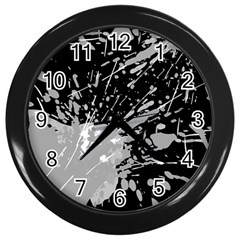 Art About Ball Abstract Colorful Wall Clocks (black) by Nexatart