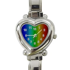 Spectrum Colours Colors Rainbow Heart Italian Charm Watch by Nexatart