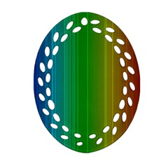Spectrum Colours Colors Rainbow Ornament (oval Filigree)