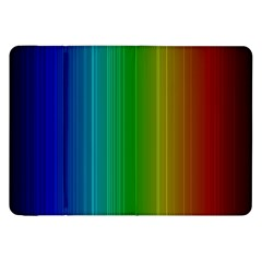 Spectrum Colours Colors Rainbow Samsung Galaxy Tab 8 9  P7300 Flip Case by Nexatart