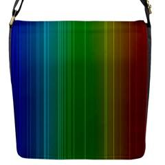 Spectrum Colours Colors Rainbow Flap Messenger Bag (s) by Nexatart