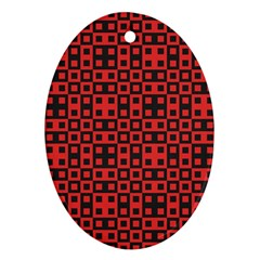 Abstract Background Red Black Ornament (oval) by Nexatart