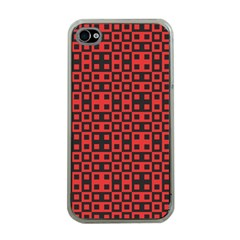 Abstract Background Red Black Apple Iphone 4 Case (clear)