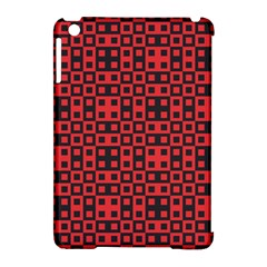 Abstract Background Red Black Apple Ipad Mini Hardshell Case (compatible With Smart Cover) by Nexatart