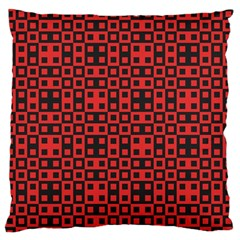 Abstract Background Red Black Standard Flano Cushion Case (two Sides) by Nexatart