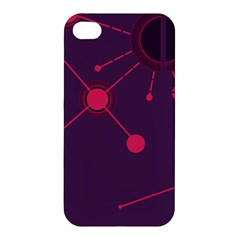 Abstract Lines Radiate Planets Web Apple Iphone 4/4s Premium Hardshell Case by Nexatart