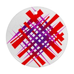 Chaos Bright Gradient Red Blue Ornament (round) by Nexatart