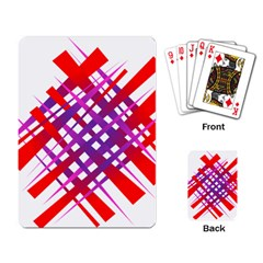 Chaos Bright Gradient Red Blue Playing Card by Nexatart