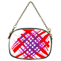 Chaos Bright Gradient Red Blue Chain Purses (two Sides)  by Nexatart
