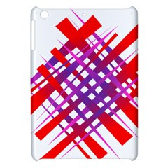 Chaos Bright Gradient Red Blue Apple Ipad Mini Hardshell Case by Nexatart