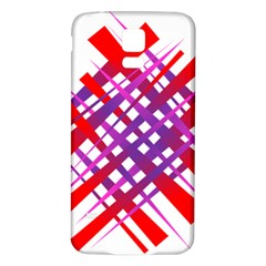 Chaos Bright Gradient Red Blue Samsung Galaxy S5 Back Case (white) by Nexatart