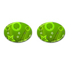 Art About Ball Abstract Colorful Cufflinks (oval) by Nexatart