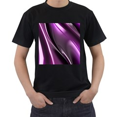 Fractal Mathematics Abstract Men s T Shirt (black) (two Sided)