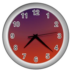 Course Colorful Pattern Abstract Wall Clocks (silver)  by Nexatart