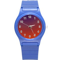 Course Colorful Pattern Abstract Round Plastic Sport Watch (s) by Nexatart