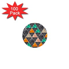Abstract Geometric Triangle Shape 1  Mini Buttons (100 Pack)