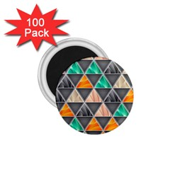 Abstract Geometric Triangle Shape 1 75  Magnets (100 Pack)  by Nexatart