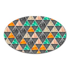Abstract Geometric Triangle Shape Oval Magnet by Nexatart