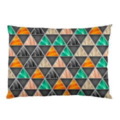 Abstract Geometric Triangle Shape Pillow Case by Nexatart