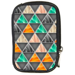 Abstract Geometric Triangle Shape Compact Camera Cases by Nexatart