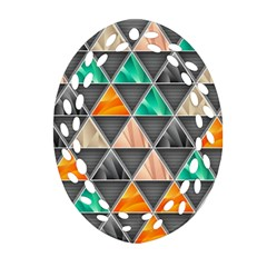 Abstract Geometric Triangle Shape Oval Filigree Ornament (two Sides) by Nexatart
