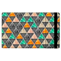 Abstract Geometric Triangle Shape Apple Ipad 3/4 Flip Case by Nexatart