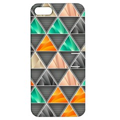 Abstract Geometric Triangle Shape Apple Iphone 5 Hardshell Case With Stand by Nexatart