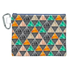 Abstract Geometric Triangle Shape Canvas Cosmetic Bag (xxl) by Nexatart