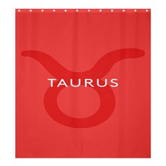 Zodizc Taurus Red Shower Curtain 66  X 72  (large)  by Mariart