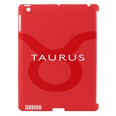 Zodizc Taurus Red Apple Ipad 3/4 Hardshell Case (compatible With Smart Cover) by Mariart