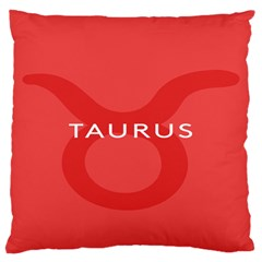 Zodizc Taurus Red Large Cushion Case (two Sides) by Mariart