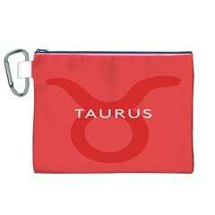 Zodizc Taurus Red Canvas Cosmetic Bag (xl) by Mariart
