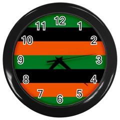 Color Green Orange Black Wall Clocks (Black) by Mariart