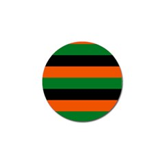 Color Green Orange Black Golf Ball Marker (4 Pack) by Mariart
