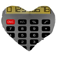 Calculator Large 19  Premium Flano Heart Shape Cushions by Mariart