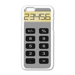 Calculator Apple Iphone 6/6s White Enamel Case by Mariart