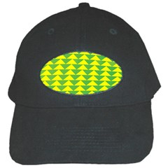 Arrow Triangle Green Yellow Black Cap by Mariart