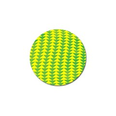 Arrow Triangle Green Yellow Golf Ball Marker by Mariart