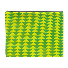 Arrow Triangle Green Yellow Cosmetic Bag (xl) by Mariart