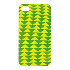 Arrow Triangle Green Yellow Apple Iphone 4/4s Hardshell Case by Mariart