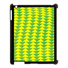 Arrow Triangle Green Yellow Apple Ipad 3/4 Case (black) by Mariart