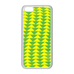 Arrow Triangle Green Yellow Apple Iphone 5c Seamless Case (white) by Mariart