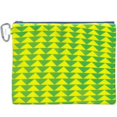 Arrow Triangle Green Yellow Canvas Cosmetic Bag (xxxl) by Mariart