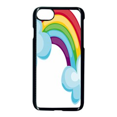 Could Rainbow Red Yellow Green Blue Purple Apple Iphone 7 Seamless Case (black) by Mariart